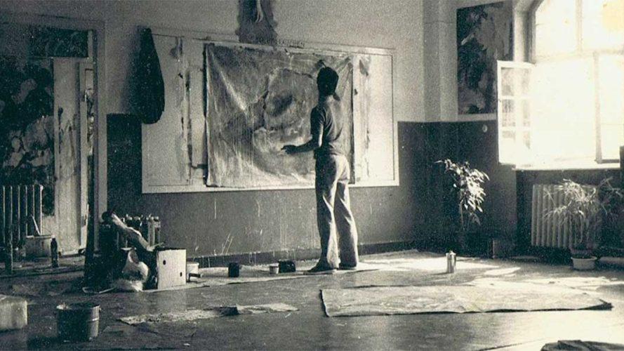 ca. 1984, Studium in Kassel, Atelier in der Fettverwertung, Nordstadt