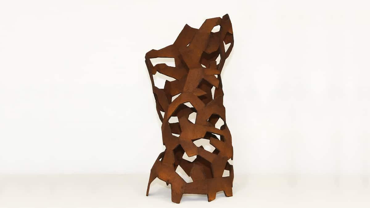 """""""Torso 3"""", Materialmix, 64 x 42 x 35 cm, 2020"""